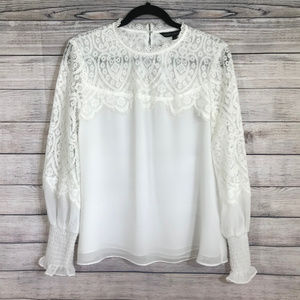 New with Tags White House Black Market Lace Top